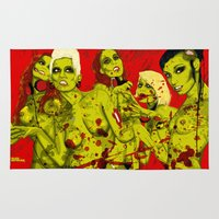 zombies Area & Throw Rugs featuring SEXY ZOMBIES by Thomas B.- Rock Artwork