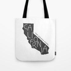 California | Gray Tote Bag