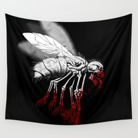 insect Wall Tapestries featuring INSECT POLITICS by BeastWreck
