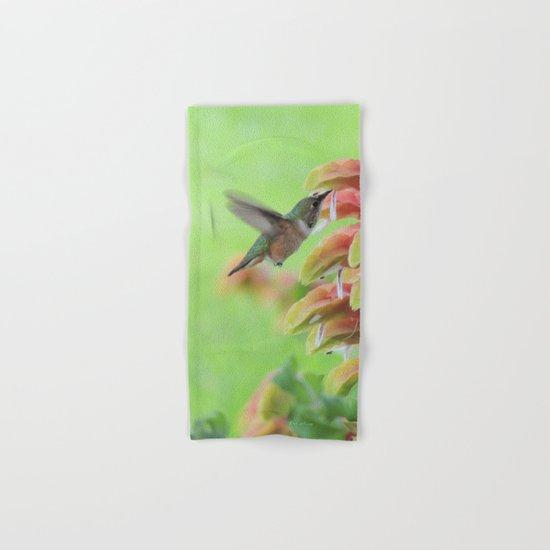 Hummingbird in Justicia Hand & Bath Towel