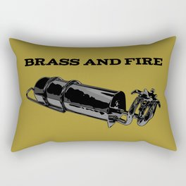 Brass and Fire Pressure Stove Rectangular Pillow