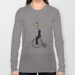 Penny Farthing Giraffe Long Sleeve T-shirt
