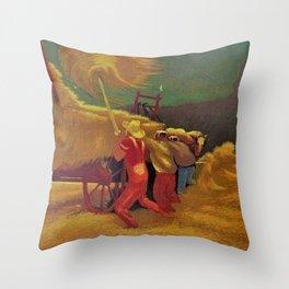 Classical Masterpiece 'Race Against the Rain' by Bernard J. Steffen Throw Pillow