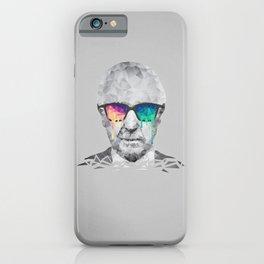 Albert Hofmann - Psychedelic Polygon Low Poly Portrait iPhone Case