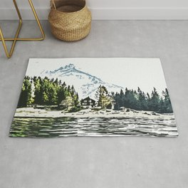 Mountain Forest #mountain #nature Rug