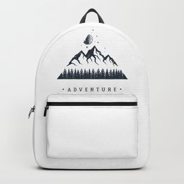 Creative Illustration In Geometric Style. Adventure, Nature, Travel And Mountains Backpack