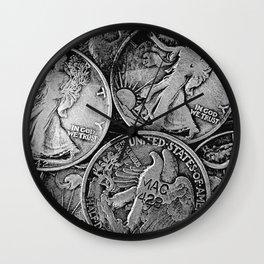 Walking Liberty Coins Wall Clock
