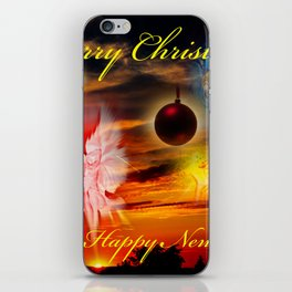 Merry Christmas and a Happy New Year iPhone Skin