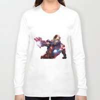 iron man Long Sleeve T-shirts featuring Iron man by Gary Reddin