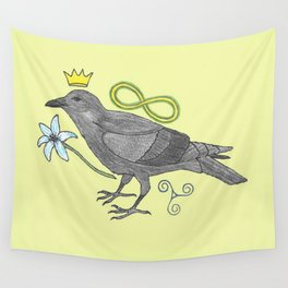Crowns and Birds, Swords and Things Wall Tapestry