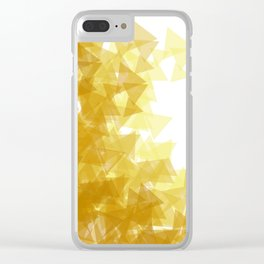 Gold abstract Clear iPhone Case