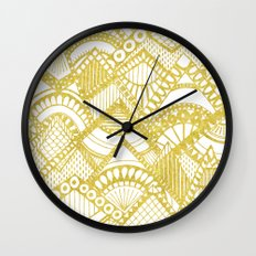 Golden Doodle mountains Wall Clock
