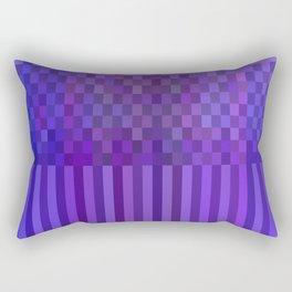 Bright Lines Blue Rectangular Pillow