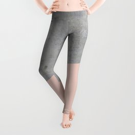 Concrete and Pale Dogwood Color Leggings