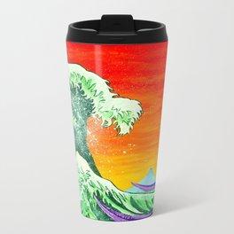 Ulterior Motive of the Great Wave Travel Mug