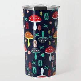 Multicolored mushrooms Travel Mug
