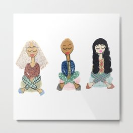 Meditation Swag Girls No. 3 Metal Print