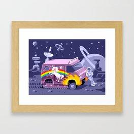 Groovy Future Framed Art Print