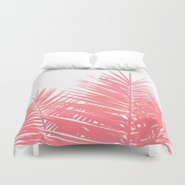 Plant Life in Pink Duvet Cover