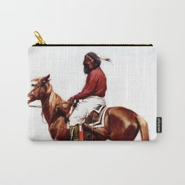 """Western Art """"Comanche Brave"""" by Frederic Remington Carry-All Pouch"""