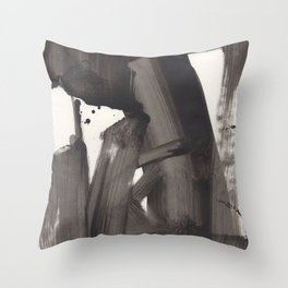 Mono Brush Throw Pillow