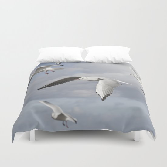 Flying Seagulls Duvet Cover
