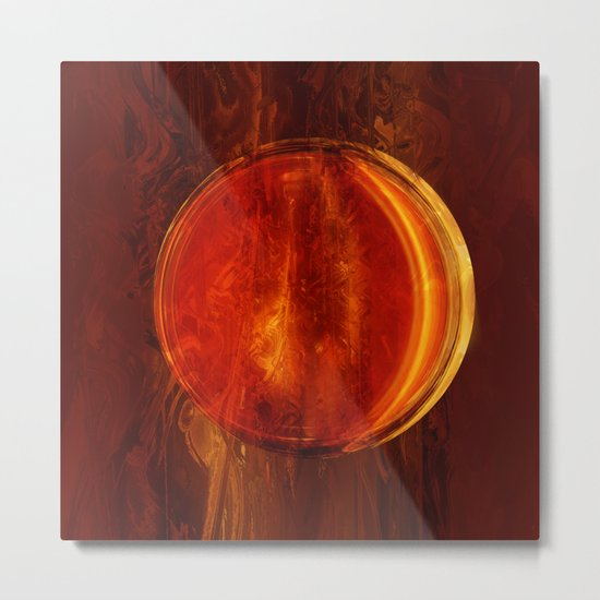 meditation orange Metal Print