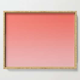 Living Coral Pink Ombre Gradient Pattern Serving Tray