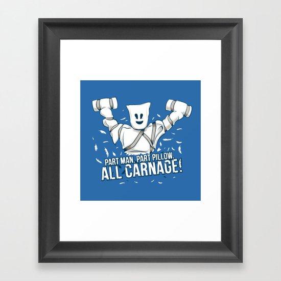 All Carnage! Framed Art Print