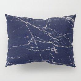 Blue Marble Crease Texture Design Pillow Sham