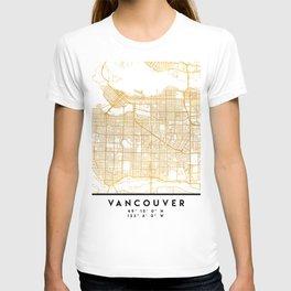 VANCOUVER CANADA CITY STREET MAP ART T-shirt