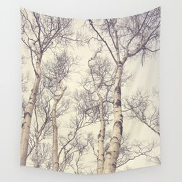Winter Birch Trees Wall Tapestry