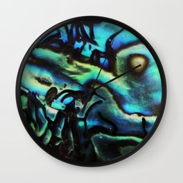 Abalone Shell Wall Clock