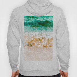 On the beach abstract painting Hoody