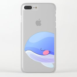 Cute whale. Vector graphic character Clear iPhone Case