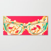 sunglasses Canvas Prints featuring Sunglasses by Lucas John Jensen