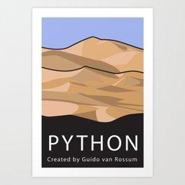 Python Programming Landscape poster Art Print