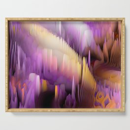 Purple Cave Serving Tray