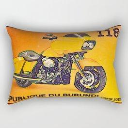 BURUNDI  Motor Cycle stamp Rectangular Pillow