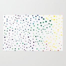 rainbow color geometric Rug
