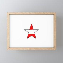 flag of austria 6 -Österreich,Austrian,Österreicher,Vienna,Salzburg,Mozart, Schoenberg Framed Mini Art Print