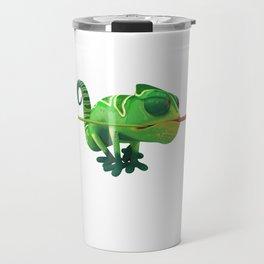 Run Cricket Run - Crazy Chameleon Travel Mug