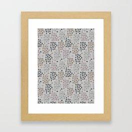 Rectangle Square Doodle Vector Pattern Seamless Framed Art Print