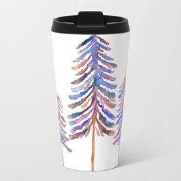 Pine Trees – 90s Color Palette Metal Travel Mug