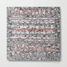 Gray and Pink Haze Metal Print