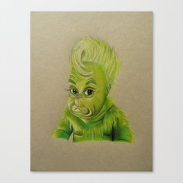 bb grinchy Canvas Print