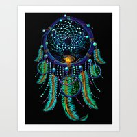 dreamcatcher Art Prints featuring DreamCatcher by Emberland