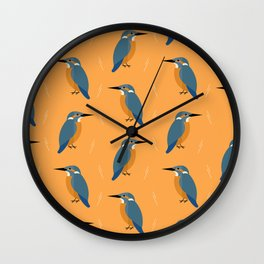 Kingfishers everywhere Wall Clock