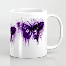 Crazy Butterfly artistic mixed media Coffee Mug