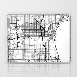 Milwaukee Map, USA - Black and White Laptop & iPad Skin